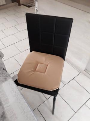 Lot de 4 Dessus de chaise 40x40 Taupe - 4285