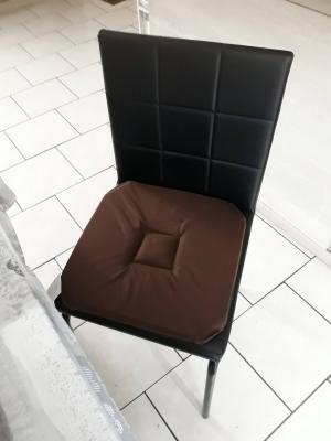 Lot de 4 Dessus de chaise 40x40 Chocolat - 4286