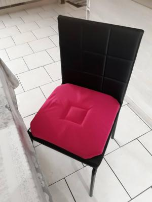 Lot de 4 Dessus de chaise 40x40 Fuschia - 4287