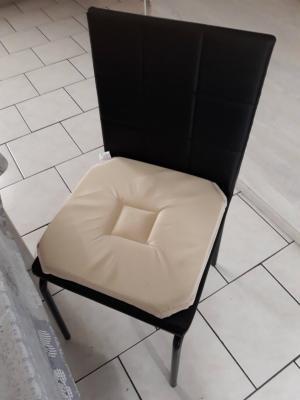 Lot de 4 Dessus de chaise 40x40 Lin - 4288