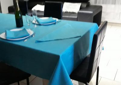 Lot de 3 Serviettes de table 45x45 Turquoise - 7628