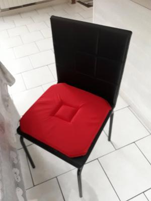 Lot de 4 Dessus de chaise 40x40 Cerise - 4280