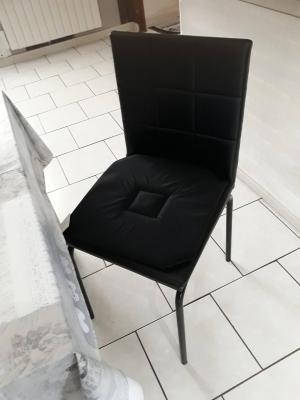 Lot de 4 Dessus de chaise 40x40 Noir - 4279