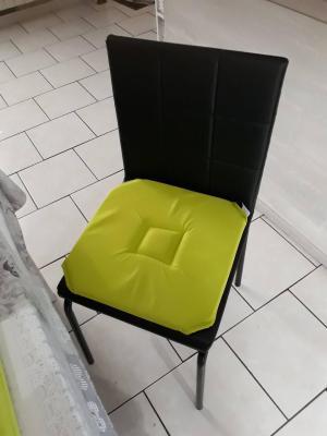 Lot de 4 Dessus de chaise 40x40 Anis - 4283