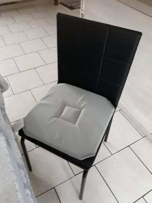 Lot de 4 Dessus de chaise 40x40 Gris - 4281
