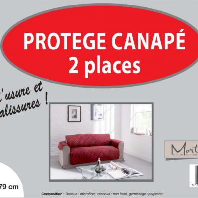 Canape 2 places cerise