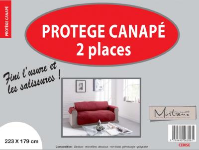 Protège Canapé 2 places Cerise - 6318/6306