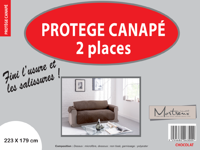 Canape 2 places chocolat