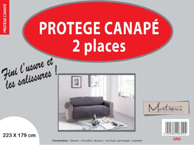 Canape 2 places gris