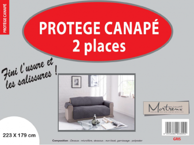 Protège Canapé 2 places Gris - 6321/6309