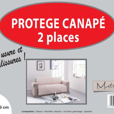 Canape 2 places ivoire