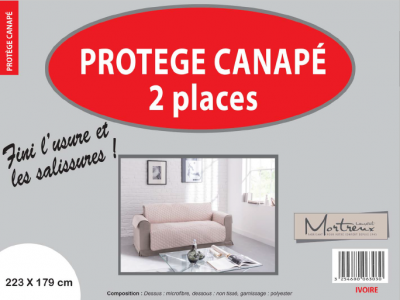 Protège Canapé 2 places Ivoire - 6315/6303