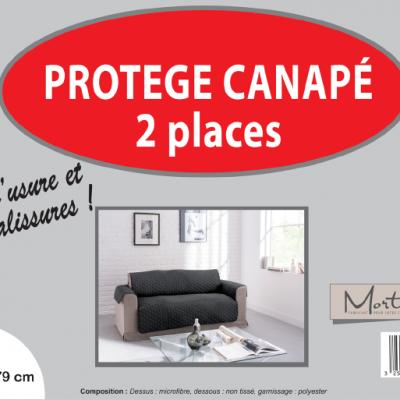 Canape 2 places noir