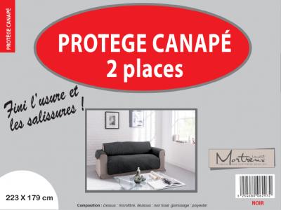 Protège Canapé 2 places Noir - 6297