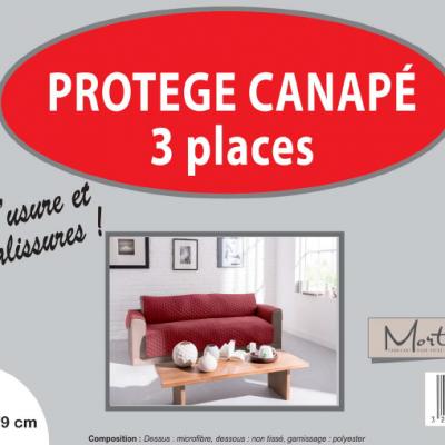 Canape 3 places cerise