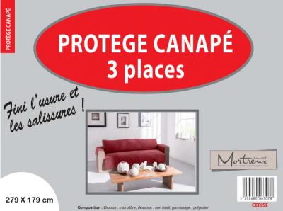 Protège Canapé 3 places Cerise - 6307