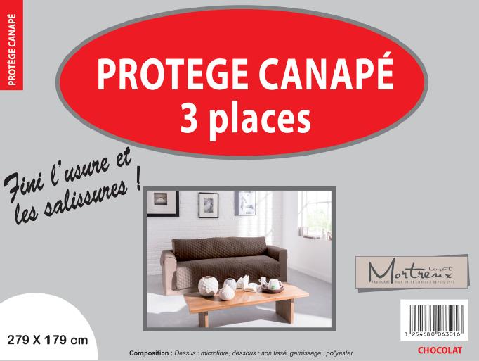 Canape 3 places chocolat