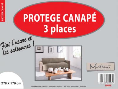 Protège Canapé 3 places Taupe - 6293
