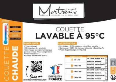 Couette Blanche A Bouillir - 2 personnes - 20366