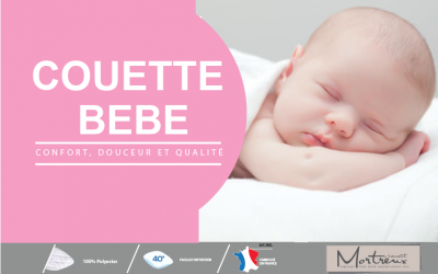 Couette Blanche Bébé Microfibre - 10358