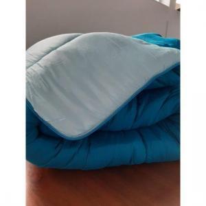 Couette bicolore bleu petrole bleu clair 240x260