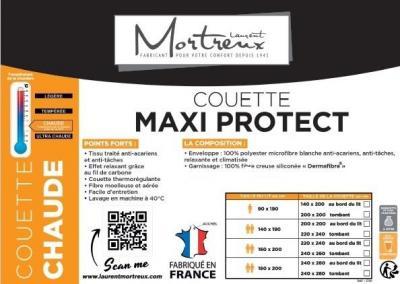 Couette Blanche Maxi Protect Tempérée - 220x240 - 2504