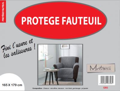 Protège Fauteuil 1 place Gris - 6320/6308