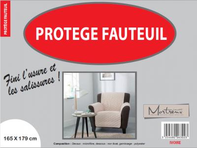Protège Fauteuil 1 place Ivoire - 6314/6302