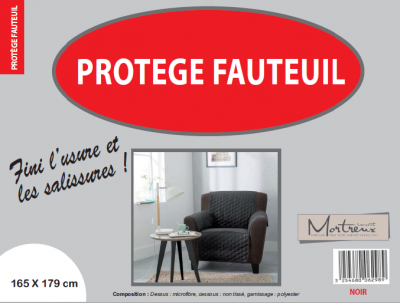 Protège Fauteuil 1 place Noir - 6298