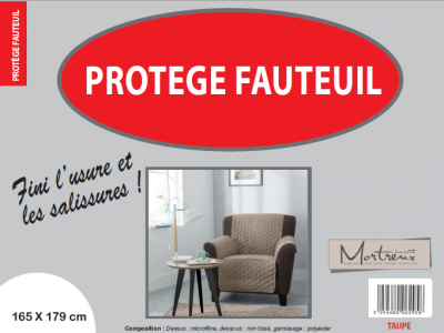 Protège Fauteuil 1 place Taupe - 6295