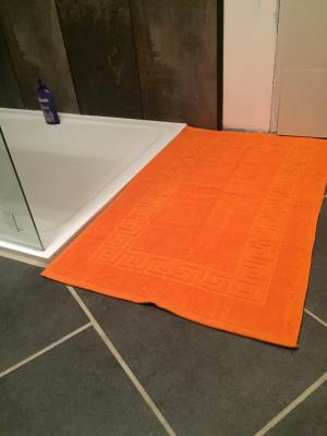 Lot de 2 Tapis de bain Eponge 50x80 Orange - 5578 / 5686