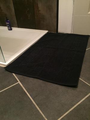 Lot de 2 Tapis de bain Eponge 50x80 Noir - 5569 / 5685