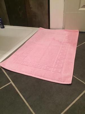 Lot de 2 Tapis de bain Eponge 50x80 Rose - 5579 / 5687