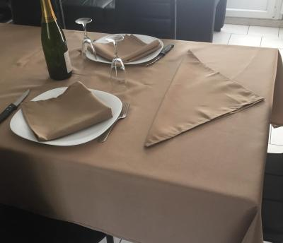 Nappe Ronde 180 cm Taupe - 7515