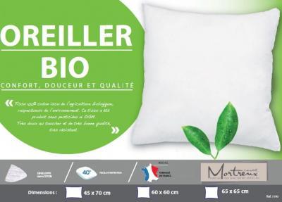 Oreiller blanc Eco-Naturel Bio Moelleux - 3684