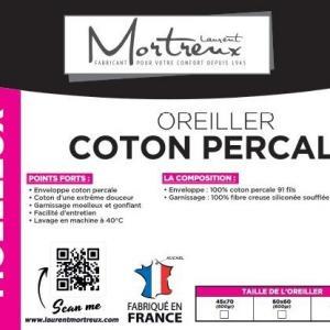 Oreiller coton percale 2