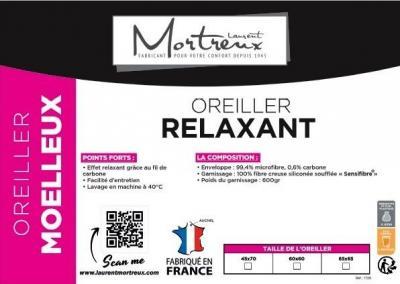 Oreiller blanc Relaxant Moelleux 60x60 - 3823
