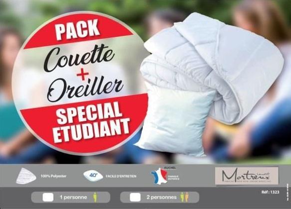 Pack couette 1 oreiller blanc special ete m