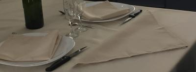 Lot de 3 Serviettes de table 45x45 Beige - 7630