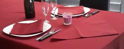 Lot de 3 Serviettes de table 45x45 Cerise - 7634