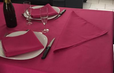 Lot de 3 Serviettes de table 45x45 Fuschia - 7633