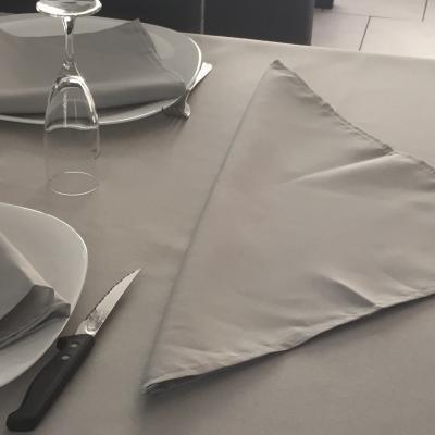 Serviette gris clair 1