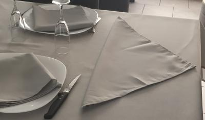 Lot de 3 Serviettes de table 45x45 Gris Clair - 7632