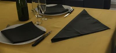 Lot de 3 Serviettes de table 45x45 Gris Foncé - 7526