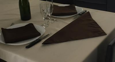 Lot de 3 Serviettes de table 45x45 Chocolat - 7521