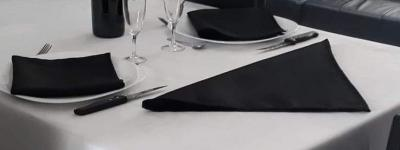 Lot de 3 Serviettes de table 45x45 Noir - 7530